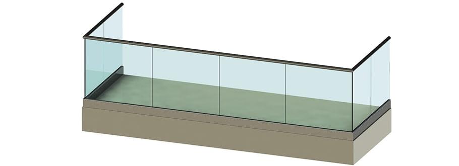 Балконные ограждения без стоек
